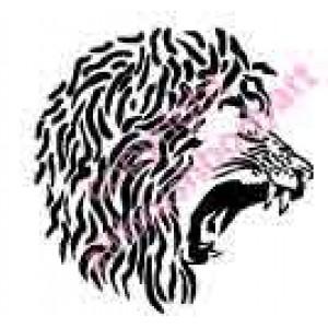 0266 lion head reusable stencil